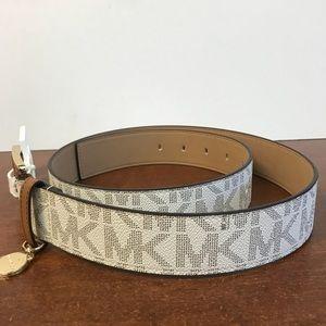 591651f7847b Michael Kors Accessories - NWT Michael Kors MK Logo Belt. Women s Medium.